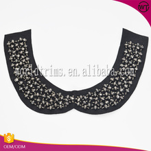 New clothing accessories back neck design beaded neckline applique for dresses