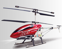 "30"" M1 Skytech Hurricane RC Helicopter 3CH Gyro LED RTF M1 Red"