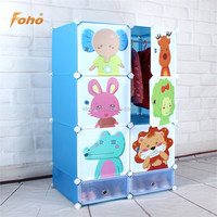 Creative promotional kids animal wardrobe can store clothes and shoes FH-AL0424-8