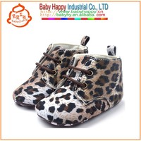leopard hard sole baby shoes walking shoes