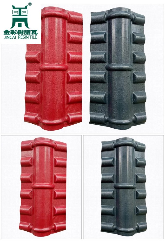 Plastic Building Material PVC Resin Roof Tile Main Ridge TIle