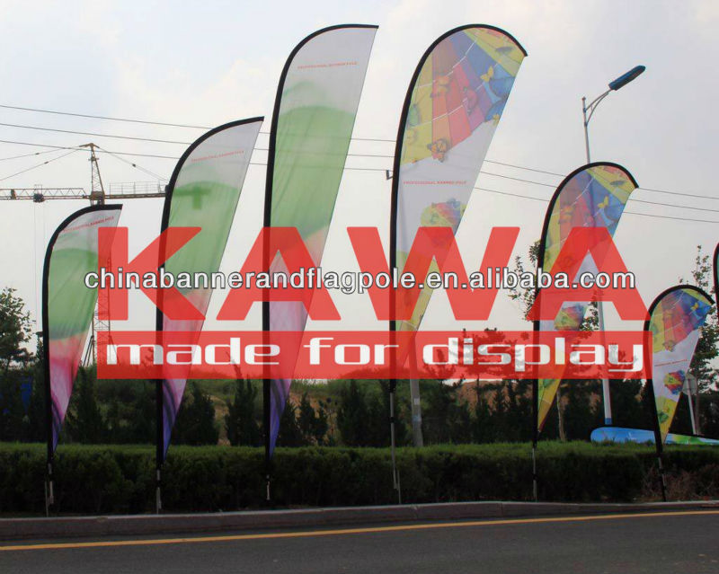 Flying banner fiberglass pole promotional used for car tires