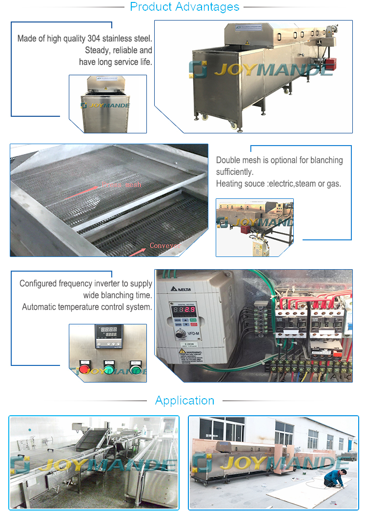 Industrial Automatic Blanching Machine For Food Vegetable And Fruit