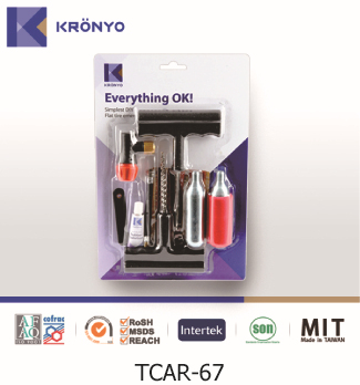 KRONYO car bag stainless steel cylinder Co2 tyre repair equipment