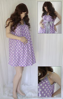 100% Cotton Polka Dot Pregnant Women Dresses High Quality Maternity Wear