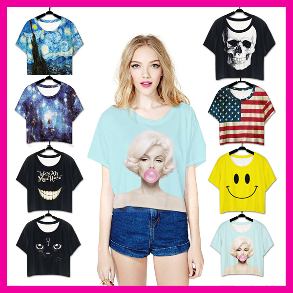 china wholesale Women Short Loose Short Sleeves T-Shirt Casual Blouse Tops
