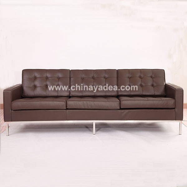 Leather living room sofas knoll 3 seaters manufacturer