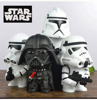 2015 New Hot Sale 16cm Starwar Stormtrooper Darth Vader piggy bank action figure with light