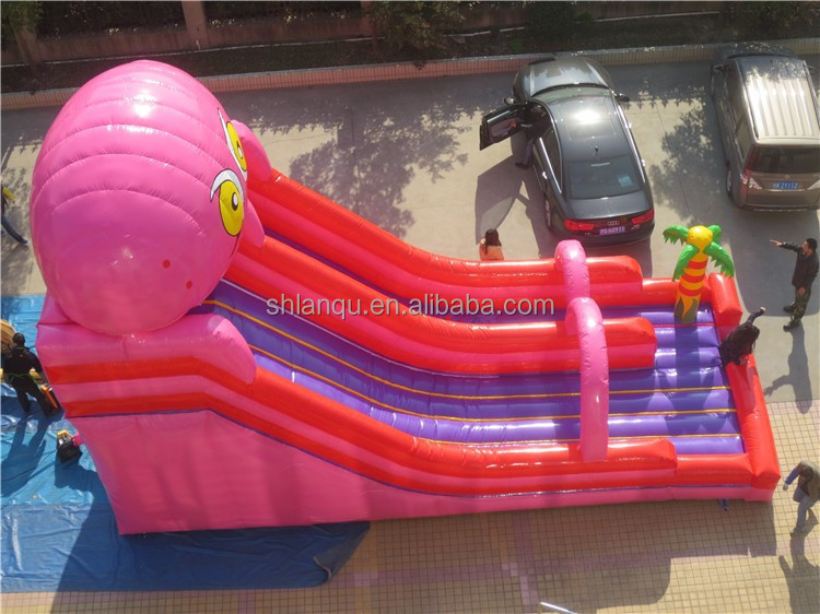 giant octopus inflatable water slide for adult