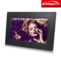 Battery operated mp3 mp4 loop video playback lcd led hd digital photo frame 7 inch rohs