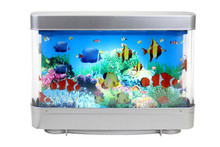 China hot sale toy Rotating Ocean Aquarium Picture Motion Moving Lamp Night Light Tropical Fantasy
