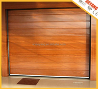 wooden color stripes automatic garage door