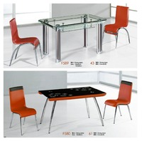 rectangular expandable glass dining table factory sell directly YY20