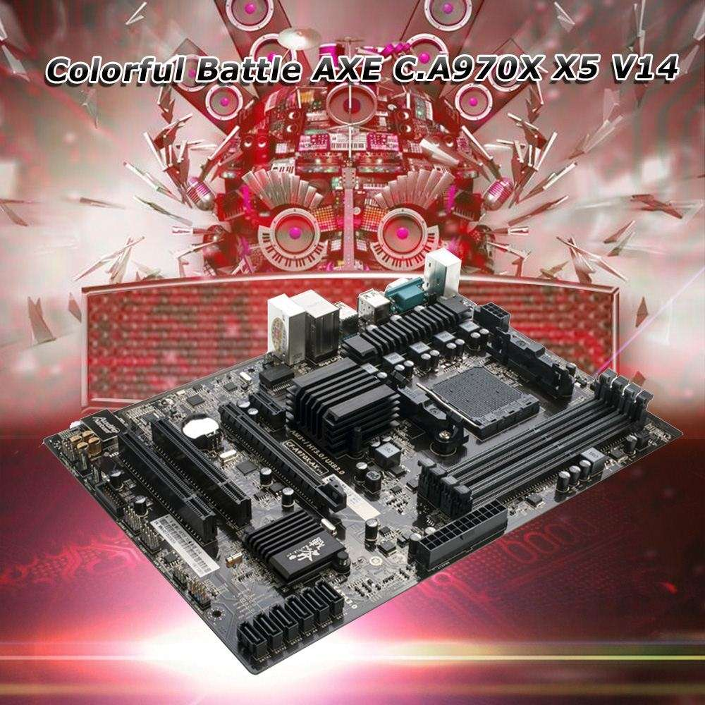 Colorful Battle AXE C.A970X X5 V14 Motherboard Computer Mainboard Systemboard for AMD AM3(+) DDR3 SATA3.0 USB3.0 ATX for Desktop