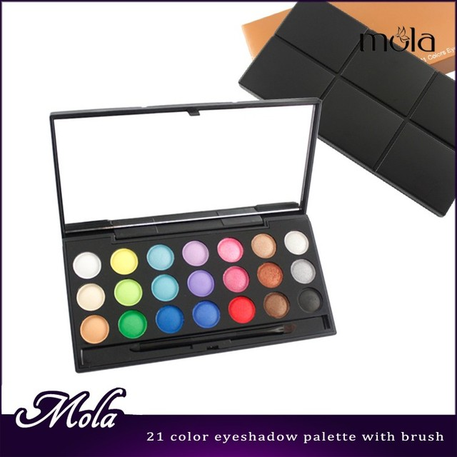 Makeup mixing palette fashion 21 color cheap eyeshadow palette cosmetic bag private label eyeshadow palette