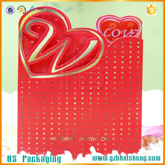 Heart Shaped Wedding Invitations Cards Offset Printing Wedding ...