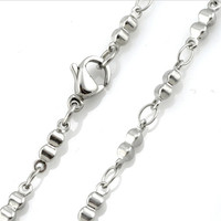 Yiwu Aceon Small MOQ jewelry factory customized 316 stainless steel chain