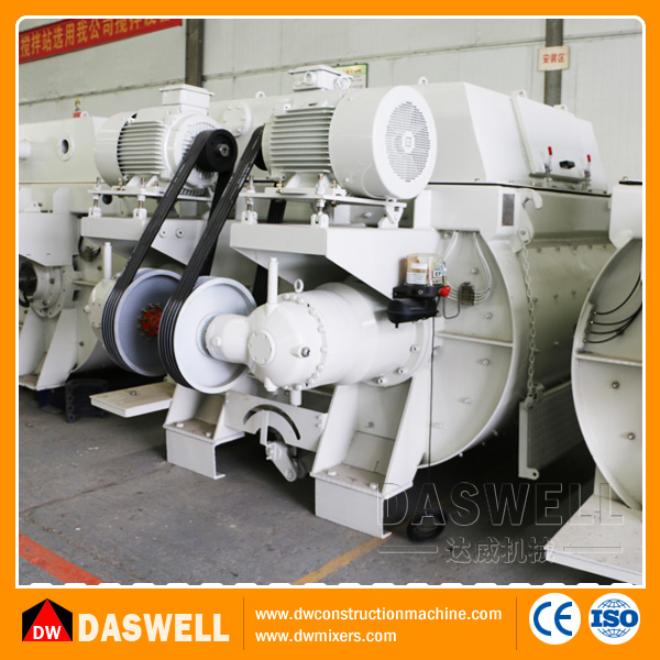 Gear box self loading twin shaft hydraulic concrete mixer prices