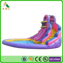 Hot new products for 2015 inflatable 8m pool slide/ inflatable pool slide and bouncer water