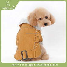 Cool Motor Style Buckskin Lapel Dog Snow Jacket Pet Winter Coats Boy Pet Clothes