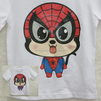 2016 Wholesale boys T-shirts with spiderman designs,fashion boy shirts100% cotton tees children Naughty round collar tops