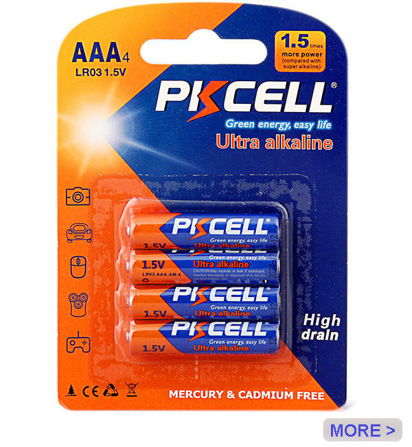 Hot Sale High Quality NO Leakage aaa Alkaline 1.5v Battery lr03 am4 3A MN2400 Dry Batteries