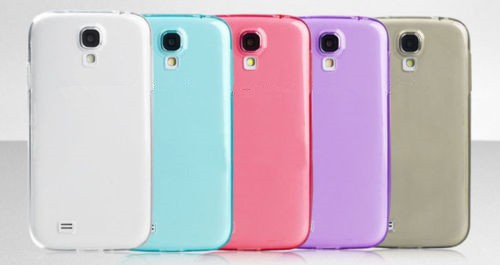 Ultra thin soft TPU silicone Gel clear crystal case cover for Samsung galaxy s4