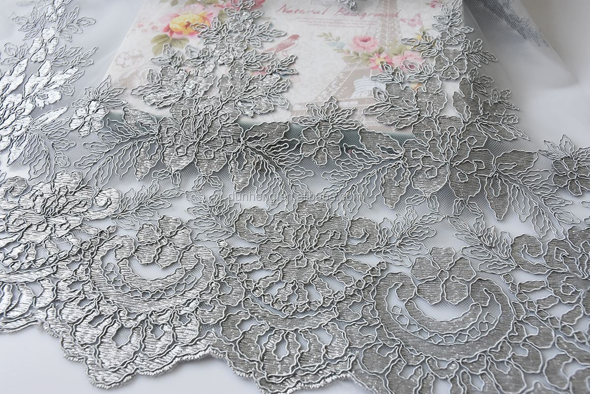 classic Design -Wedding dress cord embroidered mesh fabric
