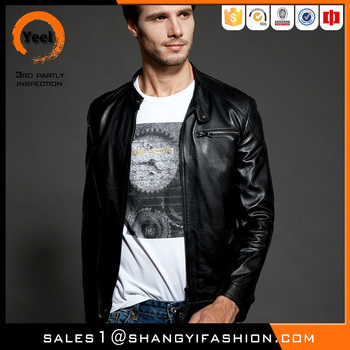 YEEL manufacturer china motorcycle jacket wholesale man winter leather jacket