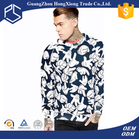 2016 high quality full print men sweater factory