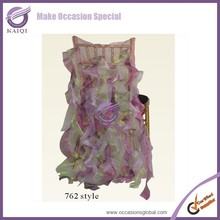 factory direct selling wholesale fancy cheap universal spandex ruffled chair covers