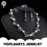 Costume Rhinestone CZ Beads crystal pendant necklace