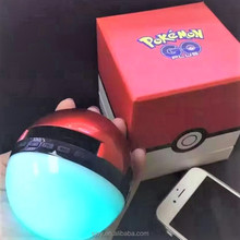 Factory directly supply mini Pokeball bluetooth speaker with colorful LED light Having mic and TF functions