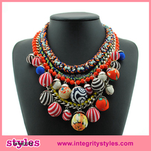 Latest Design Fashion Indian Statement Necklace With Small Ball