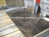 China St Lauren dark marble slab,Marron Emperador brown marble