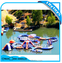 high quality adult inflatable floats water park running sport game for lake