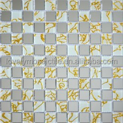 mirror glass mosaic,gold dragon,yellow and silver,fashion,store door wall board