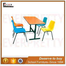 Wholesale vintage industrial furniture dining table and chair set