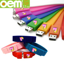 fashion custom cheap silicone usb wristband wholesale