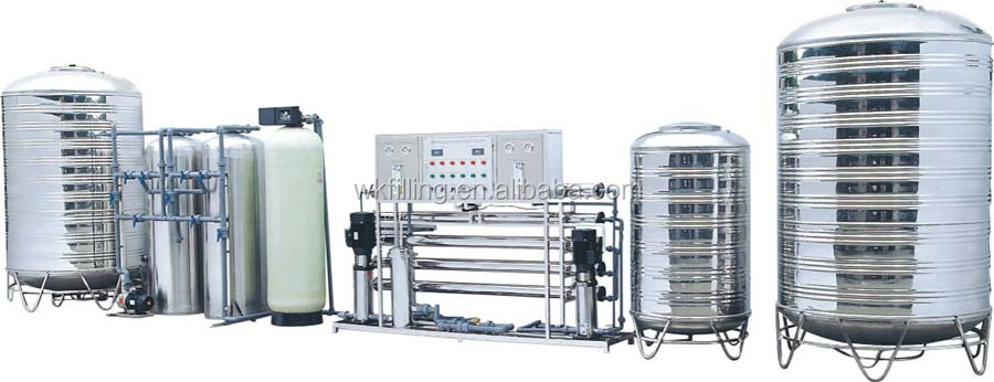 Ro filter system/reverse osmosis water filter machine/industrial distilled water machine plant