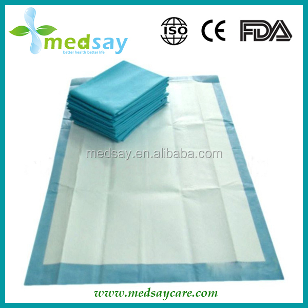 with SAP disposable absorbent incontinence hospital underpad