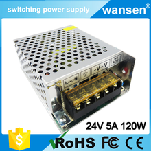 New product ac 110v-220v to dc power supply smps 24v 5a ac dc adapter S-120-24