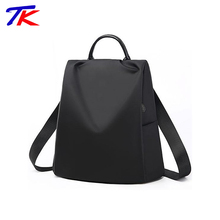 Factory direct black simple style travel backpack