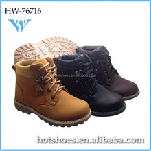 kids winter fur leather ankle boots