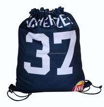 Bespoke polyester backpack drawstring Custom printed with your logo