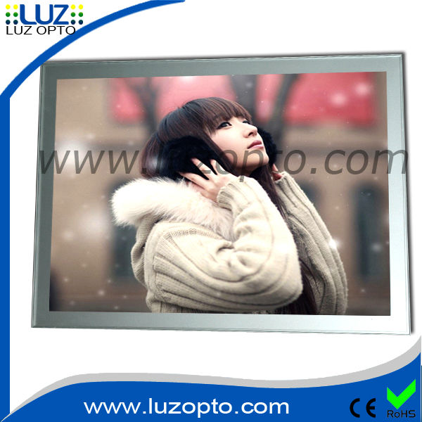2014 new style super slim aluminum frame magnetic light box