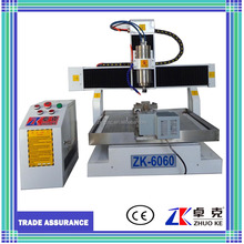 mini low cost working table moving metal alloy cnc router engraving cutting machine ZK-6060