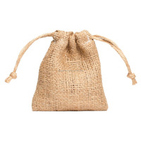 Favour Burlap DrawString Pouch with jute string gift packing bag