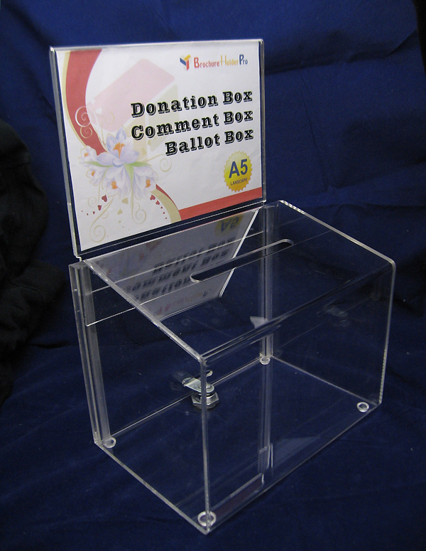 My Charity Boxes Opinion. My Charity Boxes is proud to carry an extensive line of charity and donation boxes at great prices. Fundraising is a very difficult task. Fundraisers and Non-Profit Organizations are constantly looking for new strategies to attract donors.