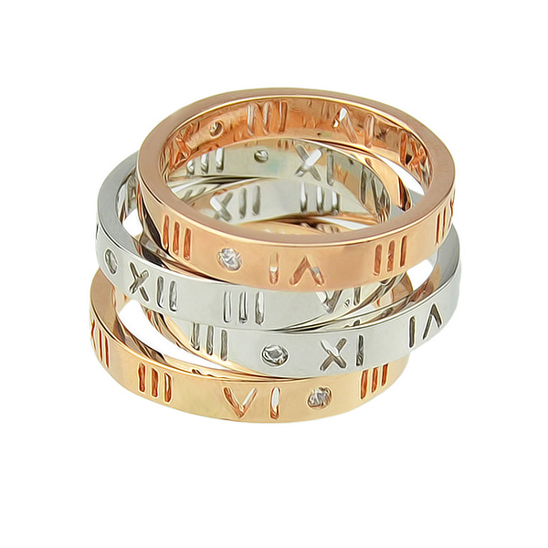 Silver Rosegold Color Alloy Couple Wedding Rings 2015 New  Fashion Designer  Jewelry for Women And Men